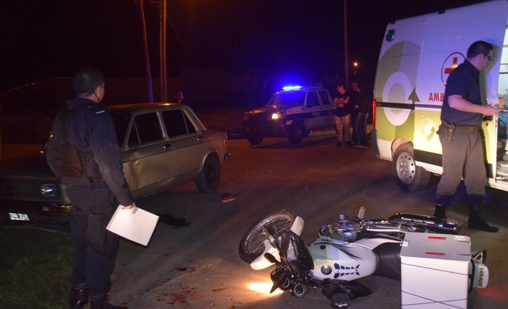 Joven motomandados sufrió heridas de consideración en un violento accidente