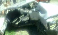 Despiste y choque en Santa Luisa: así quedó el auto