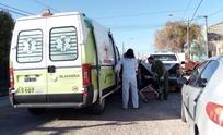 Tarde accidentada: motociclista trasladada al Hospital con heridas