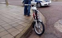 Accidente: motociclista sufrió heridas en su cabeza