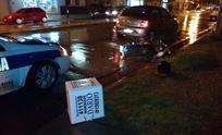 Motomandados resultó herido en fuerte choque
