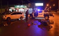 Choque entre auto y moto dejó a una menor herida