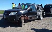 Violento choque con heridos en la ruta 226
