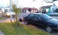 Su auto tuvo un desperfecto mecánico y lo chocaron
