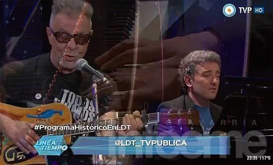Ignacio Guido tocó con León Gieco en la TV Pública