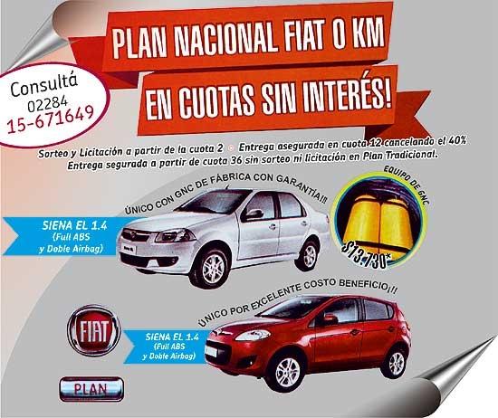 Plan nacional Fiat: dos opciones para elegir el tuyo