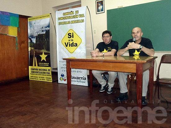 El grupo Estrellas Amarillas realizó una charla de concientización vial