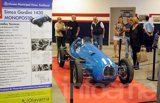 Hasta el domingo se exhibe la SIMCA Gordini de Fangio