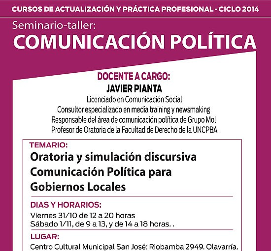 """Seminario-Taller de """"Comunicación Política"""""""