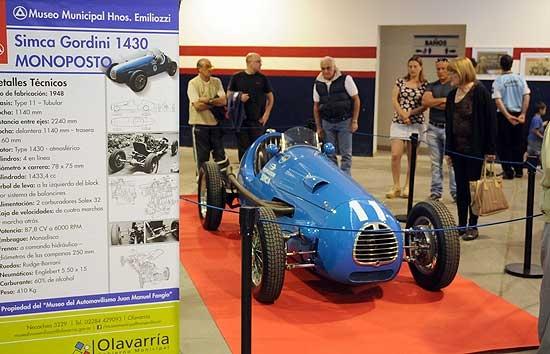 Último día para visitar la SIMCA Gordini de Fangio