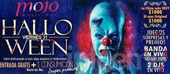 Noche de Halloween y premio al mejor disfraz en Mojo