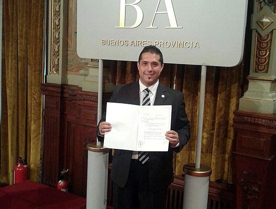 Pizzolo recibió el decreto de designación como Juez