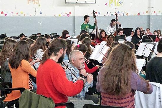 La Orquesta Escuela Municipal estuvo en Laprida