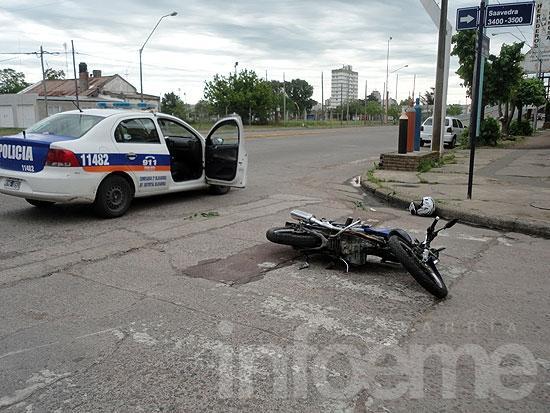 Motociclistas heridos en accidentes de tránsito