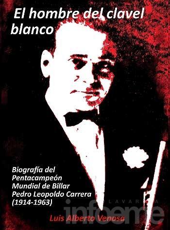 Presentan libro sobre la biografía del billarista Pedro Carrera