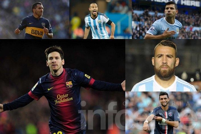 Seis futbolistas argentinos son candidatos a ganar el premio Balón de Oro