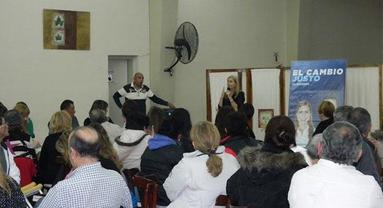 Liliana Schwindt se reunió con militantes