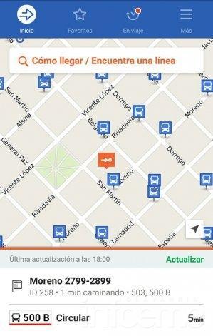 Una aplicación permite conocer los recorridos de colectivos en la ciudad