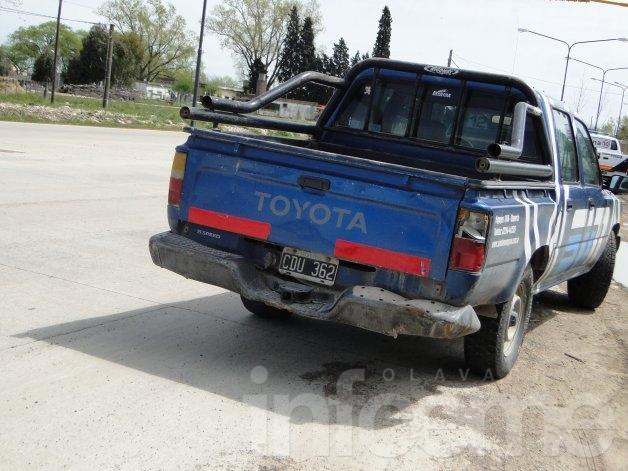 Motociclista herido en choque frente a la Escuela Agropecuaria