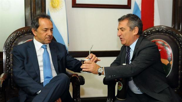 Daniel Scioli confirmó a Sergio Urribarri como su eventual ministro de Interior y Transporte