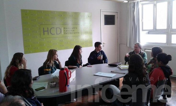 Concejo Estudiantil: reunión con funcionarios municipales