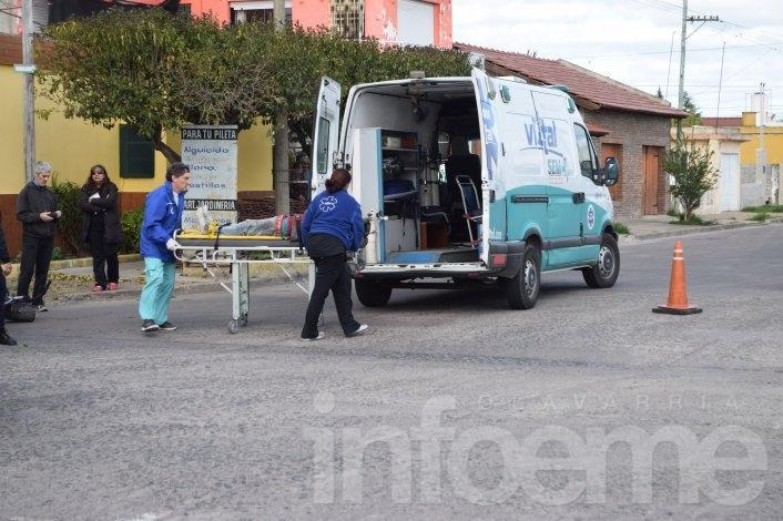 Ciclista herido en un choque en Villa Floresta