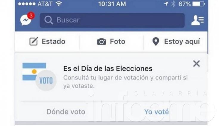 """Elecciones: Facebook activó el botón """"Yo Voté"""""""