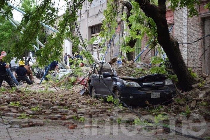 """Las fotos del derrumbe de """"Paseo Cereseto"""""""