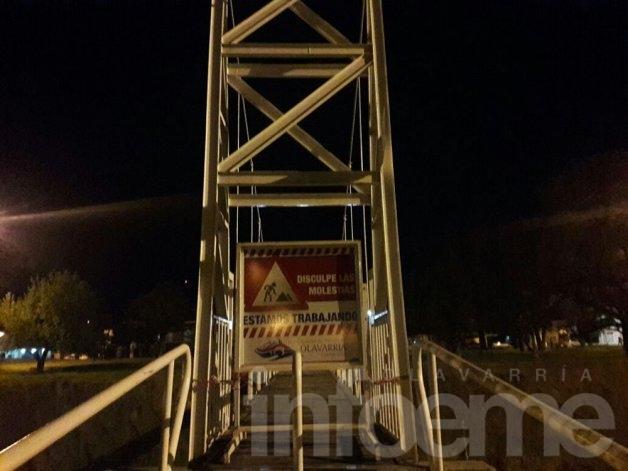 Se clausuró el puente colgante de la calle Álvaro Barros