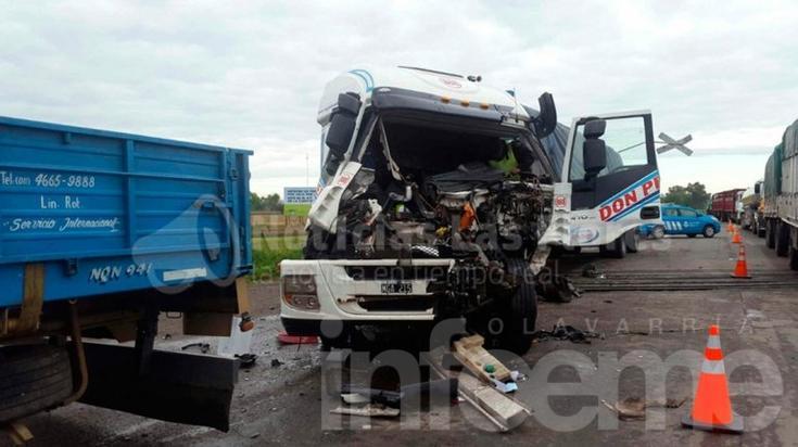 Ruta 3: Dos camioneros locales involucrados en accidentes