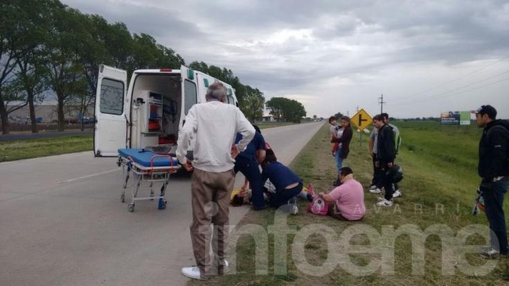 Así eran asistidos los accidentados en Ruta 226