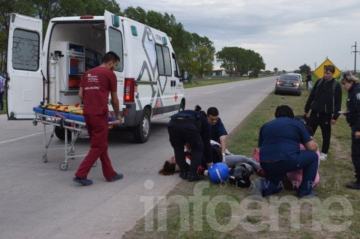 Dos heridos luego de accidentarse en la Ruta 226