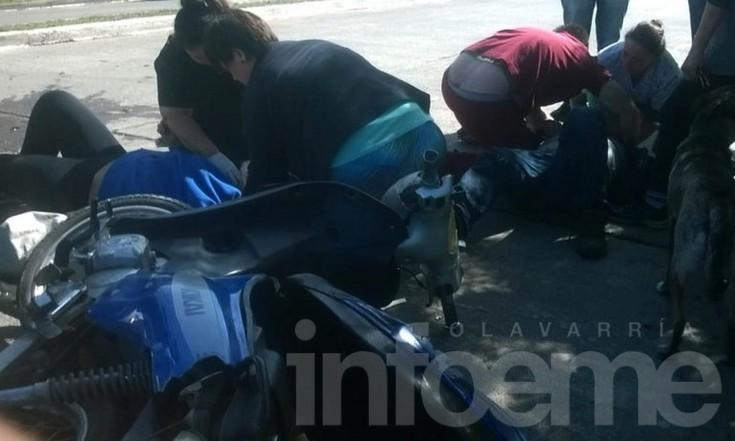 Así eran asistidos los motociclistas heridos