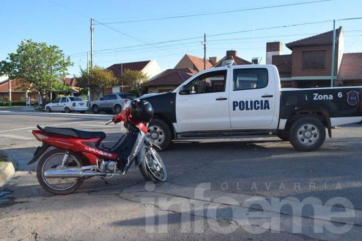 Accidente: motociclista hospitalizado