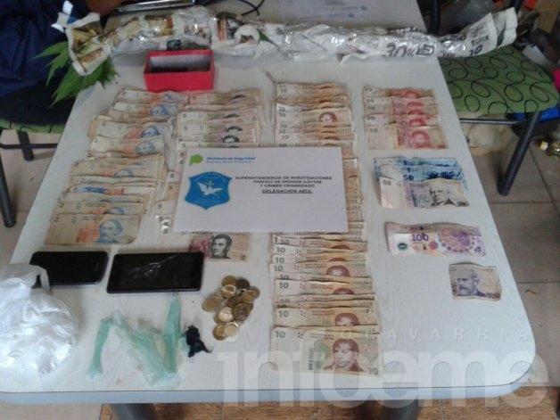 Secuestran droga, teléfonos y dinero en allanamiento