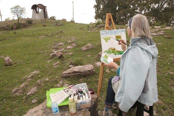 Estudiantes de UPAMI participaron en jornada de pintura de paisajes