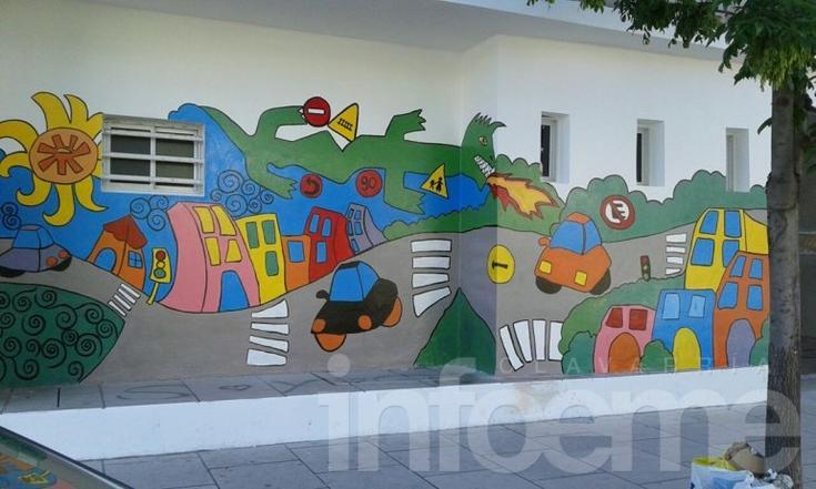 Alumnos de 6º año de la Escuela Nº 17 pintaron un mural