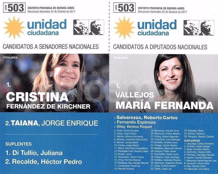 Provincia: estas son las boletas para las elecciones legislativas