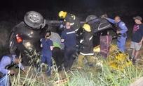 Mujer fue rescatada tras impresionante vuelco en Tandil