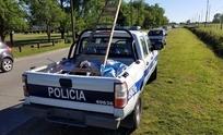 Otra vez: la Policía bajó pasacalles de políticos