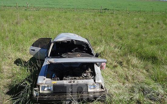 "Olavarrienses volcaron en Ruta 76: ""La sacamos barata"""