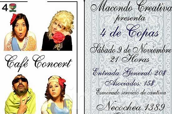 Nuevo capítulo de Café Concert en Macondo