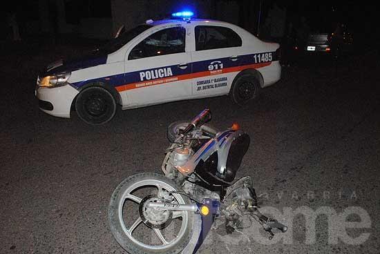 Joven herido tras chocar en una moto robada