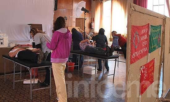 Se realizó la colecta de donación de sangre en la Escuela Nº 17