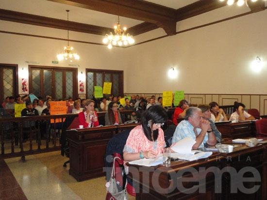 La polémica del Cerro Largo se coló en el debate del Concejo
