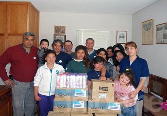Ex soldados entregaron donación