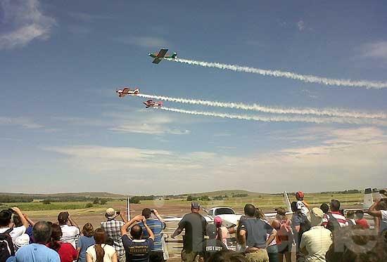 Un espectáculo de alto vuelo con más de 5 mil personas