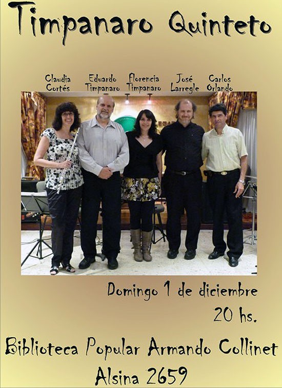 Quinteto Timpanaro en la Biblicoteca Collinet