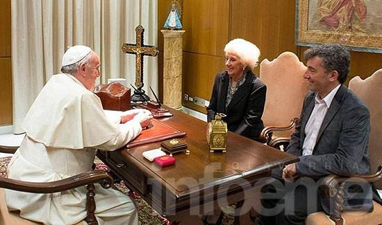 """El papa Francisco a Ignacio: """"Te agradezco el coraje que tuviste"""""""
