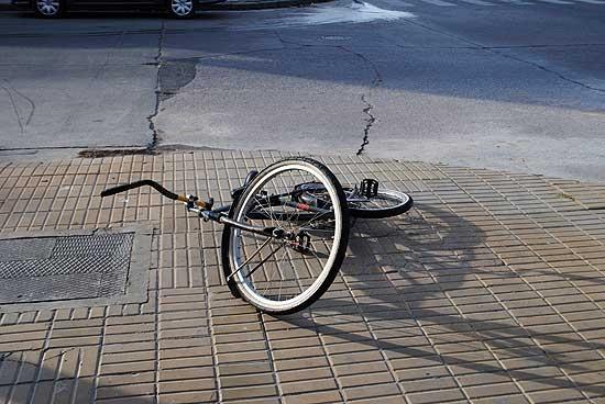 Ciclista con heridas leves en accidente